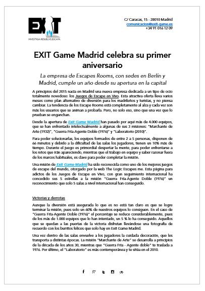 Exit-Game-Madrid-Nota-Prensa-Aniversario