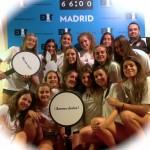 El Equipo femenino de Balonmano del CVE en EXIT Madrid