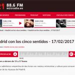 """EXIT Madrid en """"Madrid con los 5 sentidos"""" (M21Radio)"""