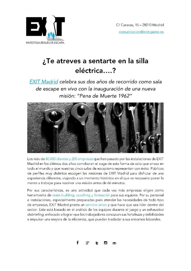 Nota de prensa_Pena de Muerte_EXIT Madrid