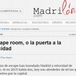 Escape Room, o la puerta a la felicidad (Madrilánea)